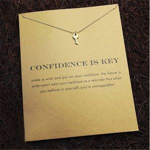 Confidence is key 🔑 necklace